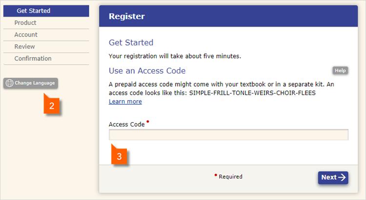 Step 1: Registration